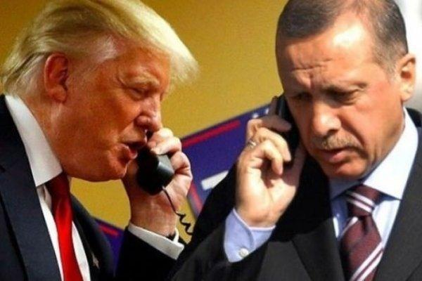 اردوغان و ترامپ تبادل نظر کردند